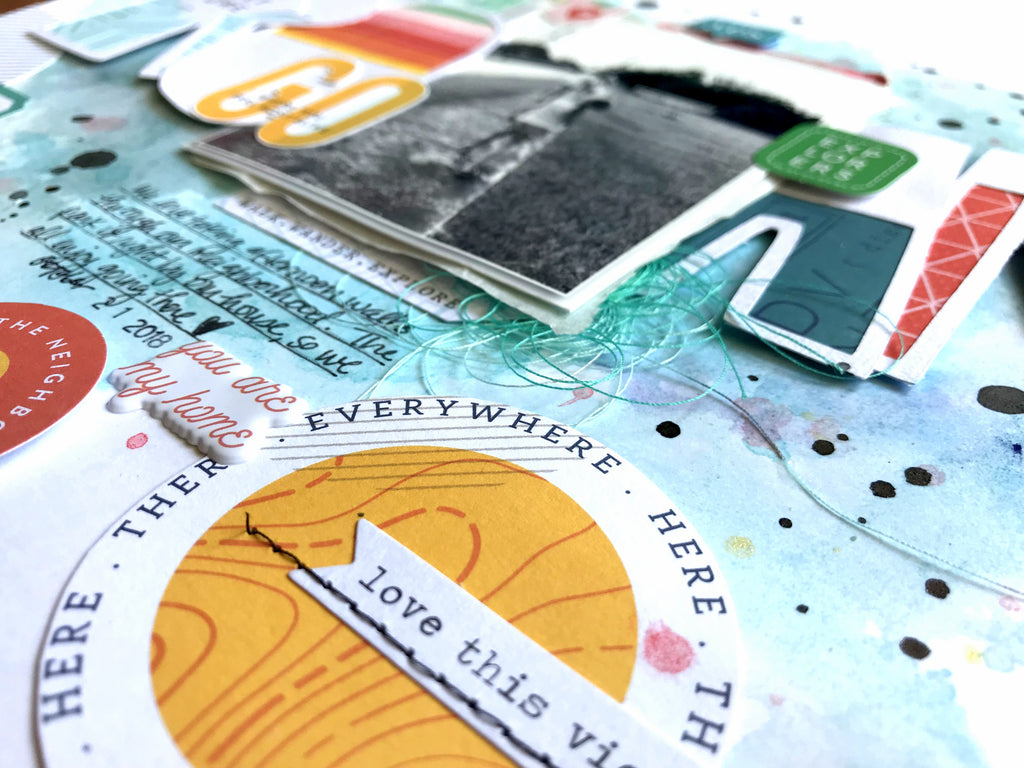 Mixed Media Layout | Out & About | Missy Whidden