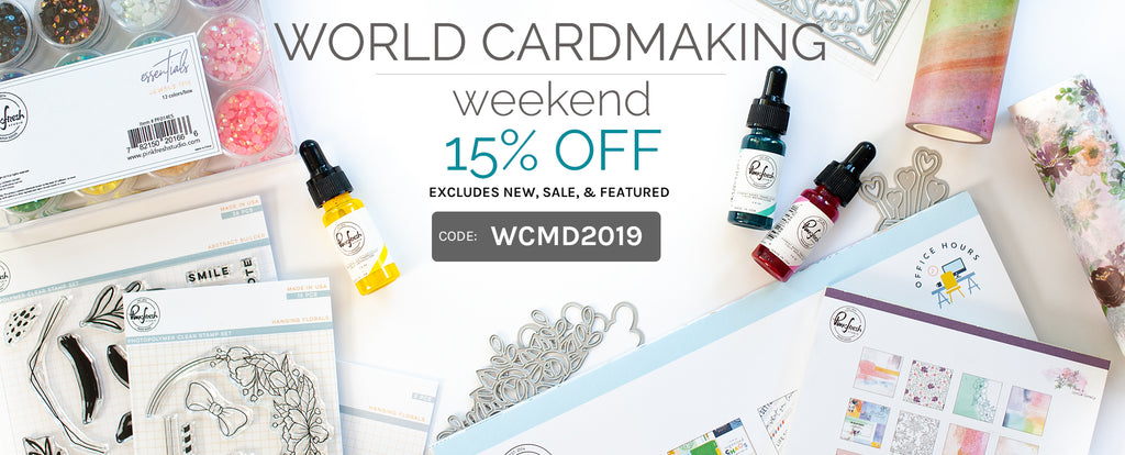 Celebrate World Cardmaking Weekend with 15% off