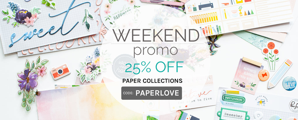 Weekend Promo: 25% off Paper Collection Bundles
