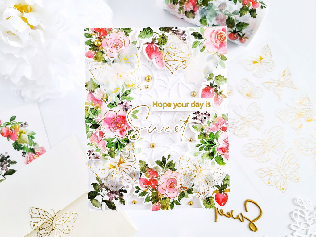 Blossoms and Berries Washi, Die & Stamp┃Yasmin Diaz