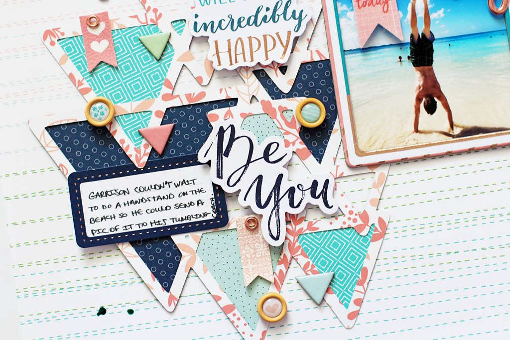 Layouts Using the New Be You and The Mix No. 2 Collections