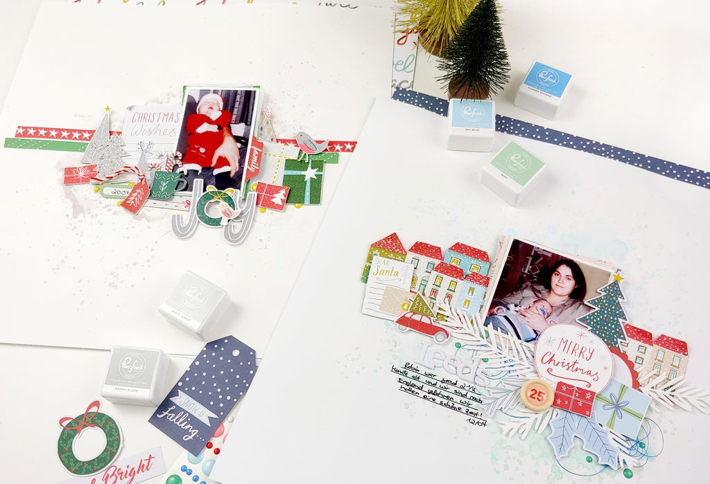 Home for the Holidays Scrapbooking Layouts | Jana Maiwald-McCarthy