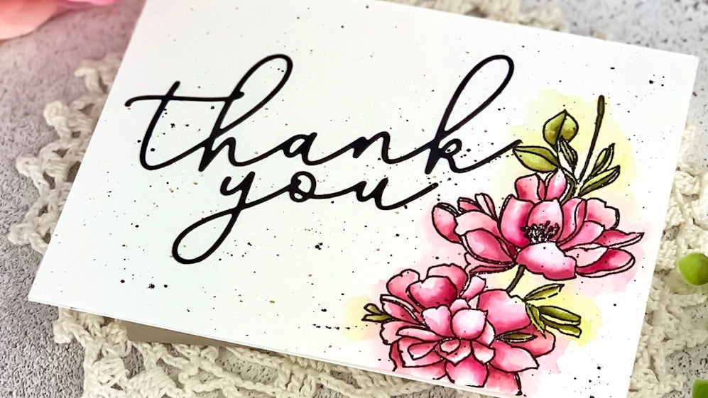 Thank You Floral Card | Angelica Conrad