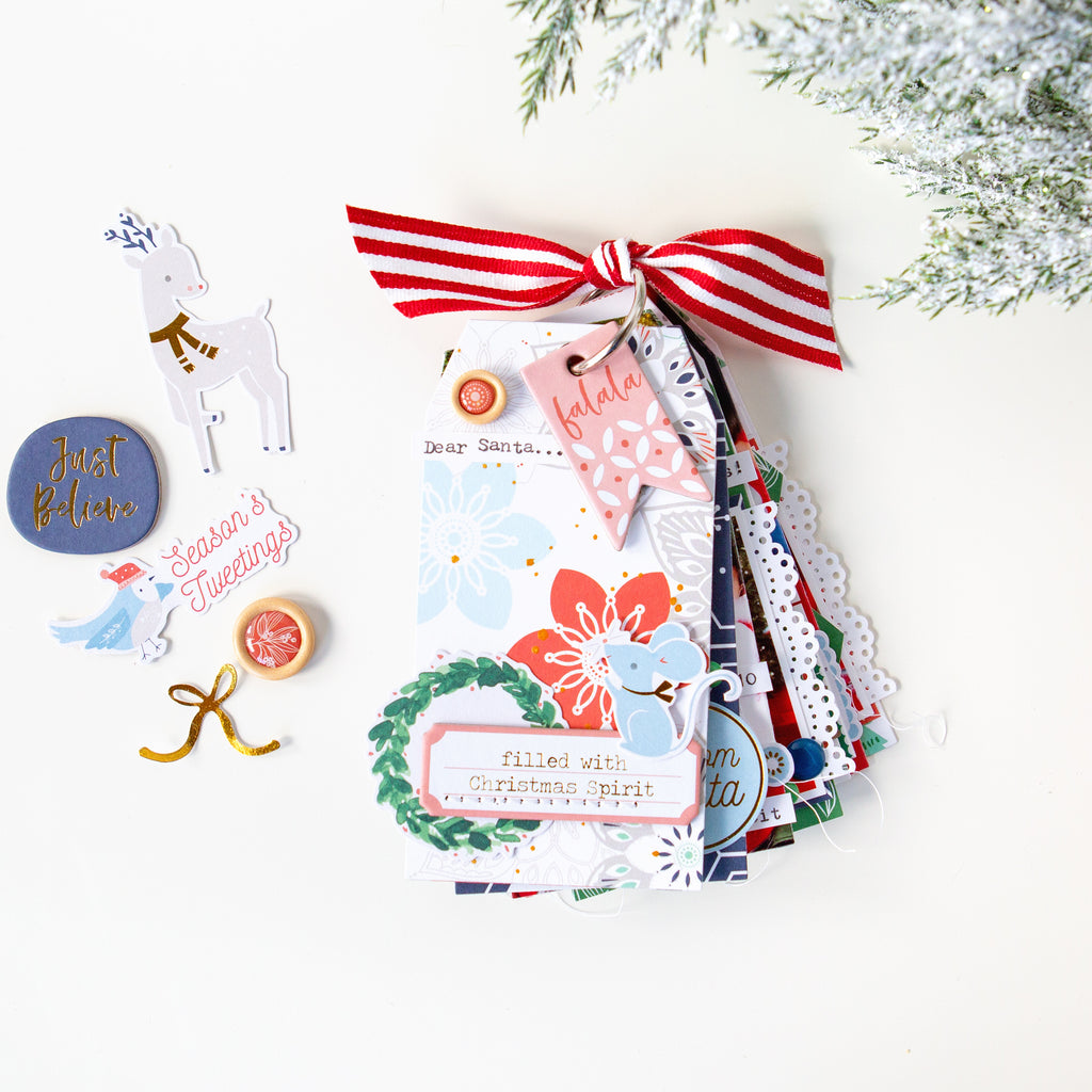 Dear Santa mini tag album, featuring Holiday Vibes