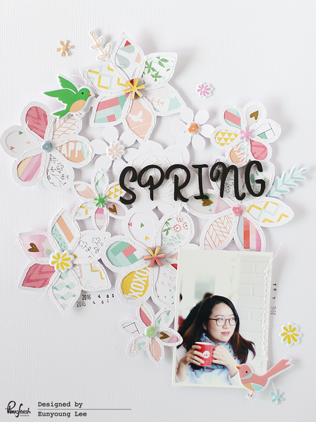 Pinkfresh Studio & Just Nick Blog Hop - A Layout with Eunyoung