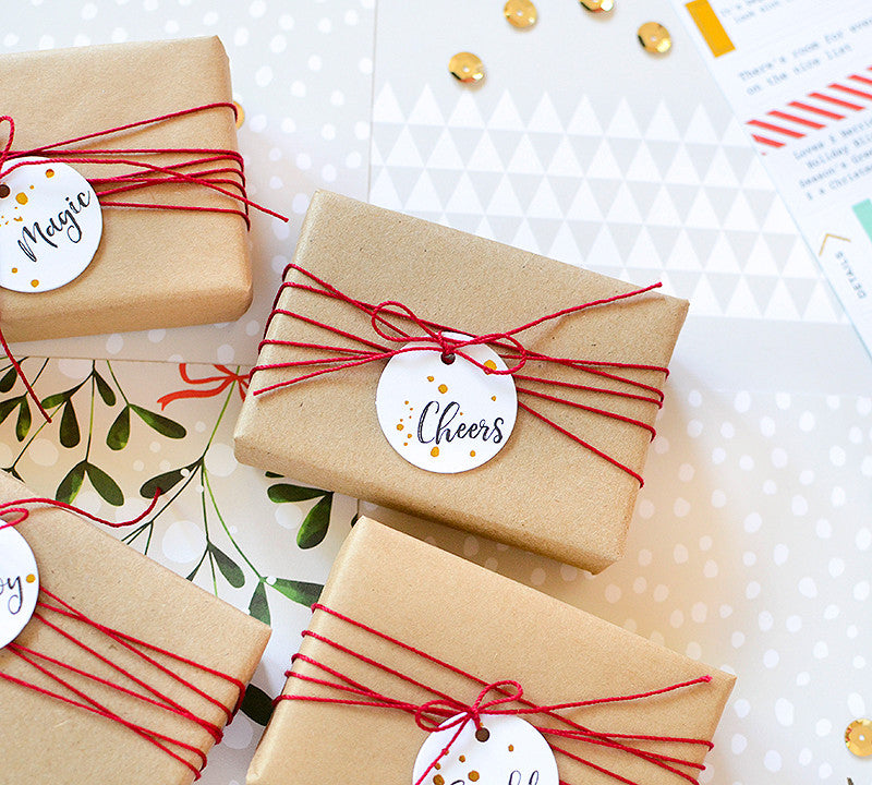 Easy Holiday Gift Tags with Rebecca