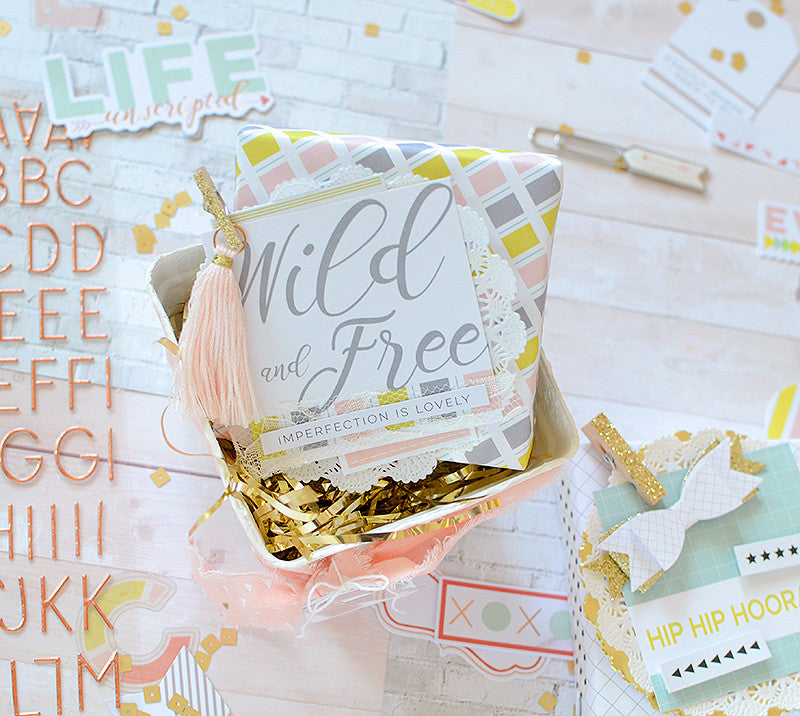 Layered Tags and Easy Packaging with Live More by Rebecca