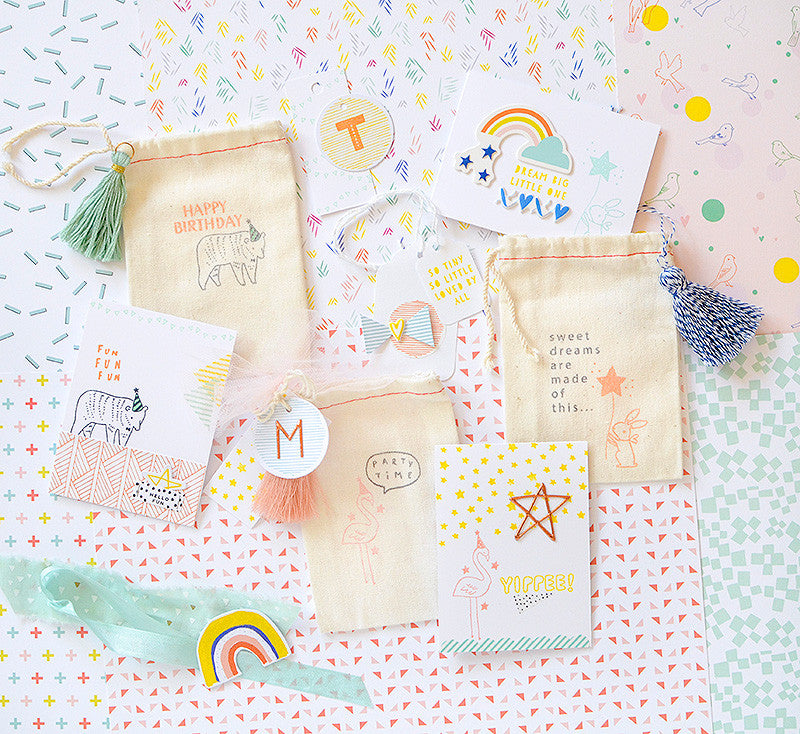 Stamped Mini Cards and Gift Bags w/ Rebecca
