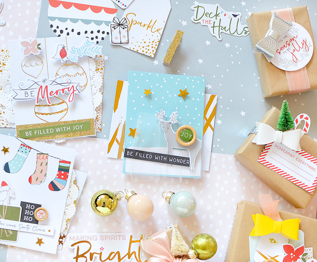 December Days Gift Wrap + Tags | Rebecca Luminarias