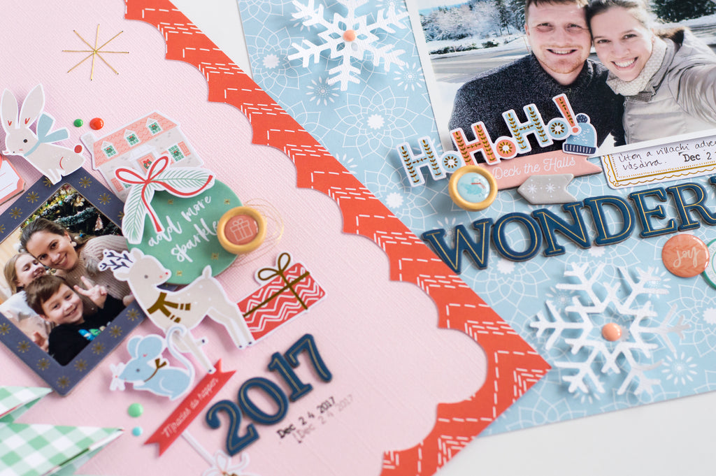 Holiday Vibes Scrapbook Layouts  | Flora Farkas