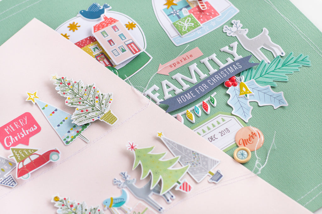 Home for the Holidays Layouts I Flora Farkas