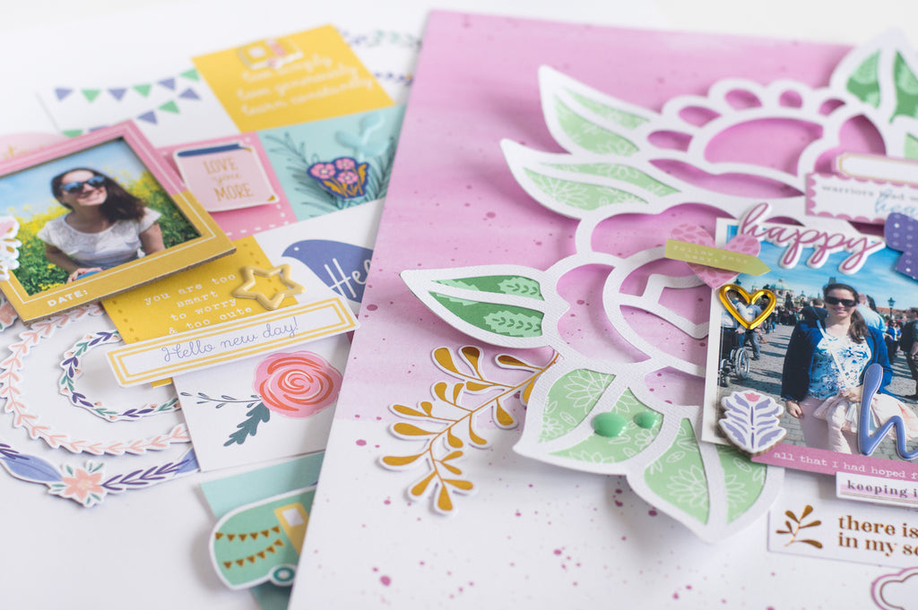 Spring Scrapbook Layouts I Flora Farkas