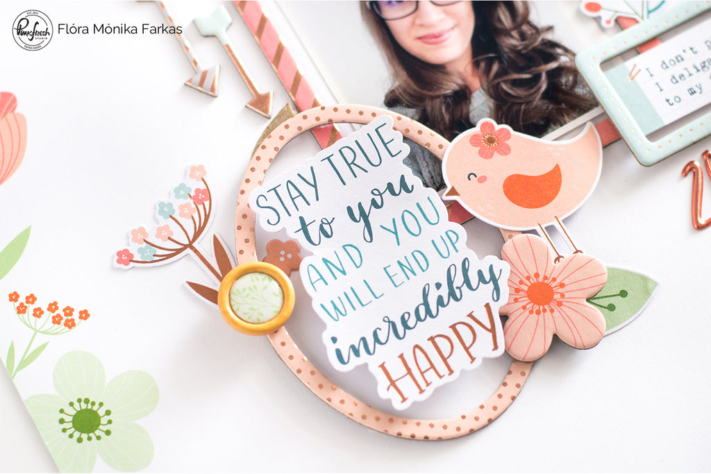 Scrapbook layouts with Be You & The Mix Vol. 2 | Flora Farkas