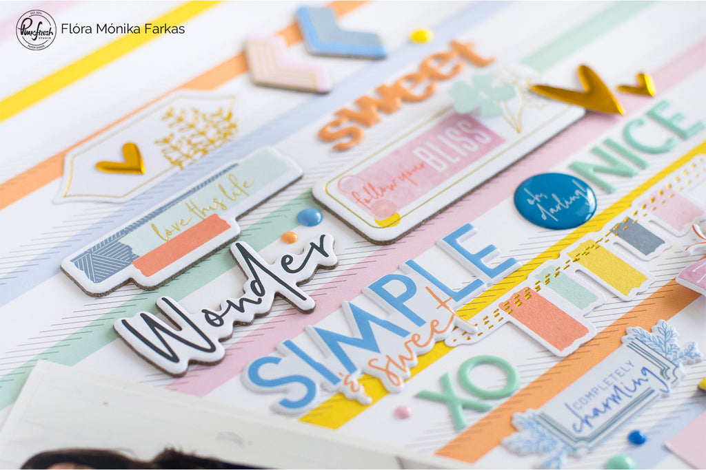 Simple & Sweet Scrapbook Layouts  | Flora Farkas