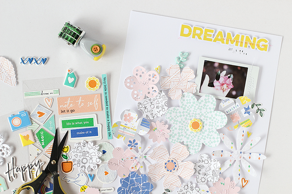 A Layout & a Mini Album with Dream on collection by Eunyoung Lee