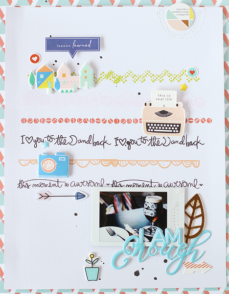 A Scrapbook Layout &  A TN Layout with Stamping