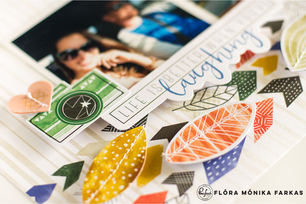 Stamping on Scrapbook Layouts | Flora Monika Farkas