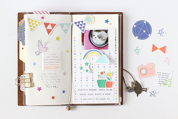 Two traveler's note layouts by Eunyoung