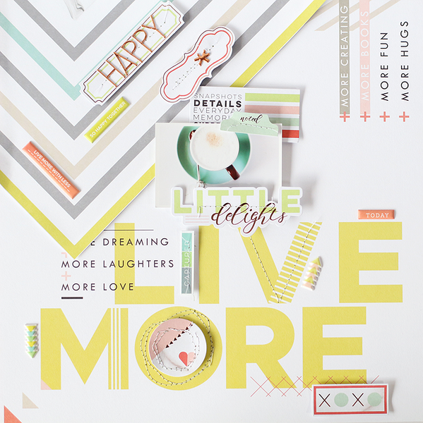 A layout with Live More collection
