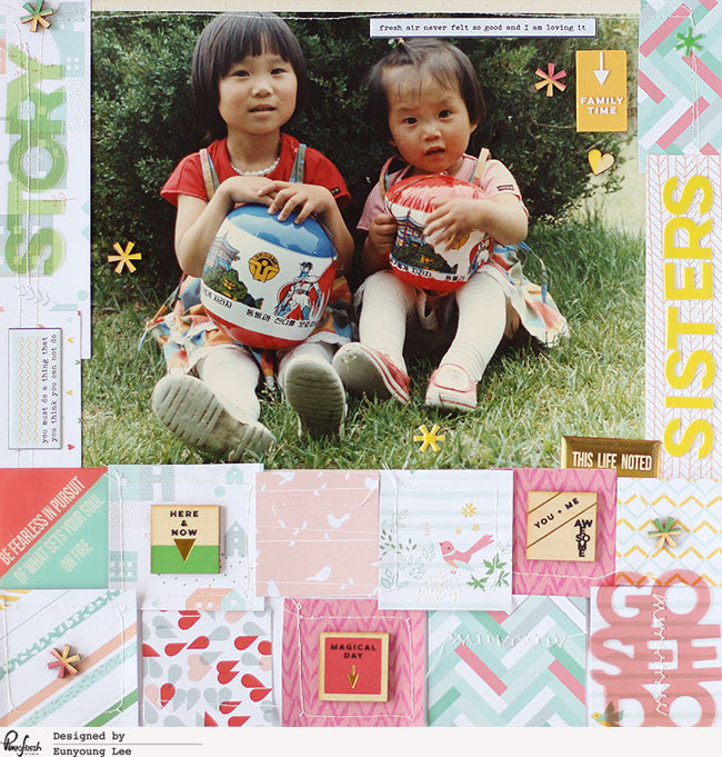 A layout with an old childhood photo