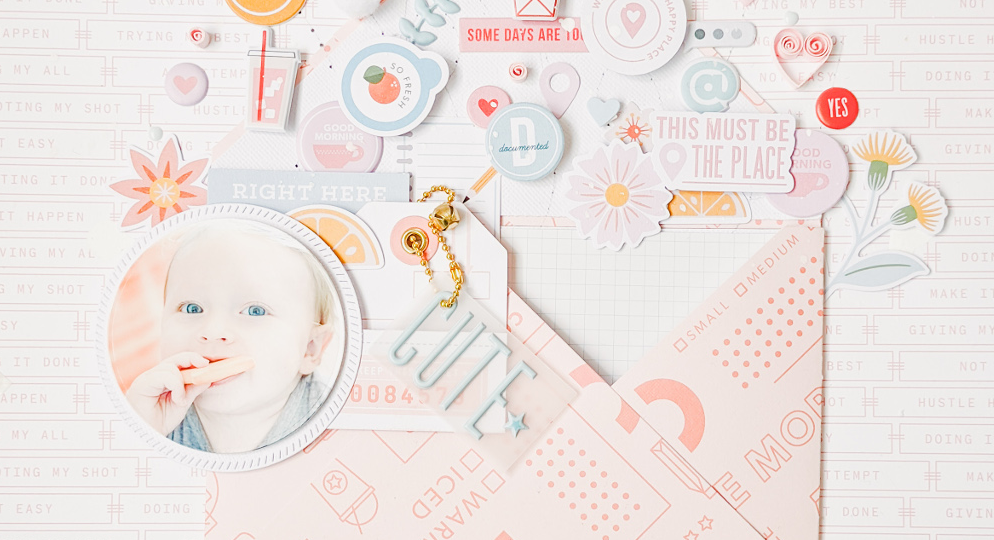 Sweet layout using Some Days Collection | Maribel Gómez