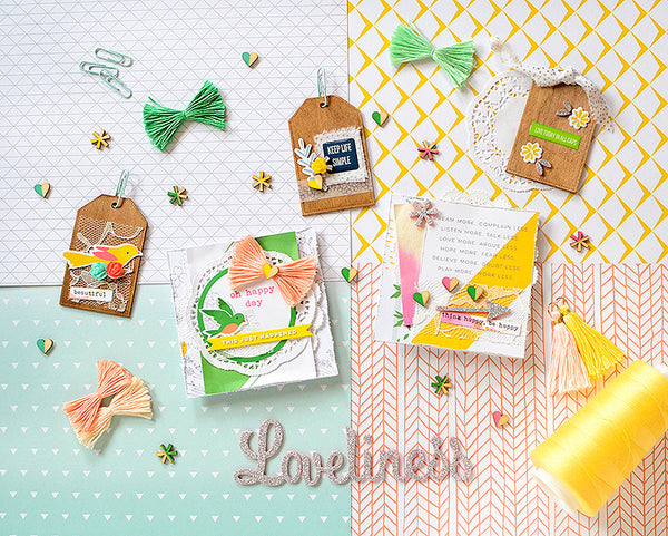 Card & Tags & Pops of Yellow by Rebecca