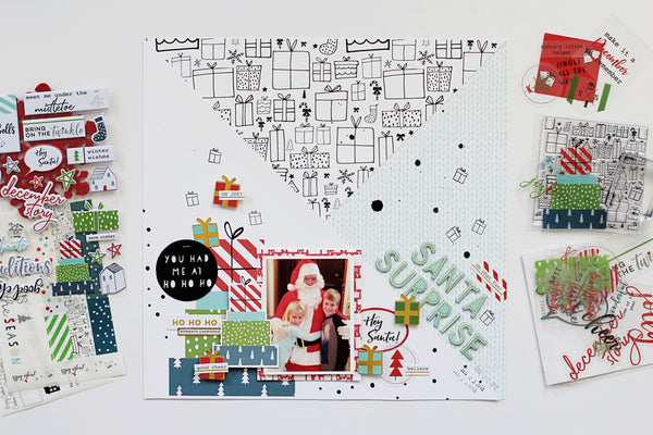 Holiday Inspired Layouts Using the Oh Joy Collection | Adrienne Alvis
