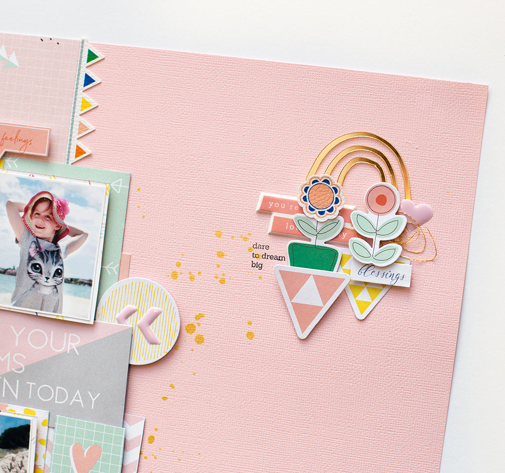 2 layouts using the Dream On collection by BEA Valint