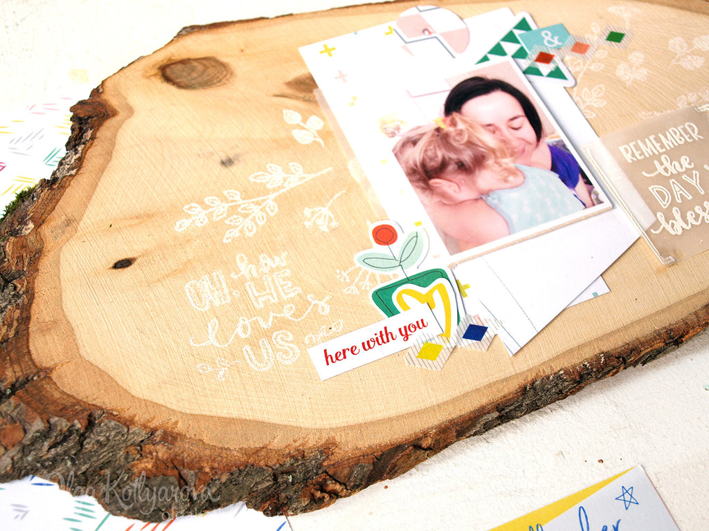 Wood decor and more stamping