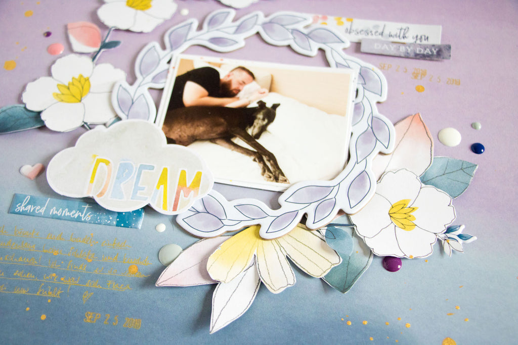 Dream by ScatteredConfetti. // #scrapbooking #pinkfreshstudio #indigohills