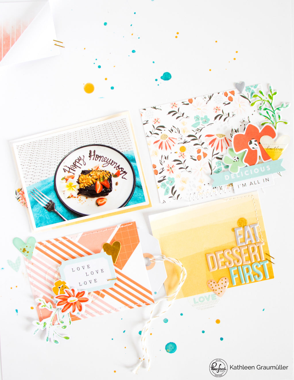 Eat Dessert First by ScatteredConfetti. // #scrapbooking #pinkfreshstudio