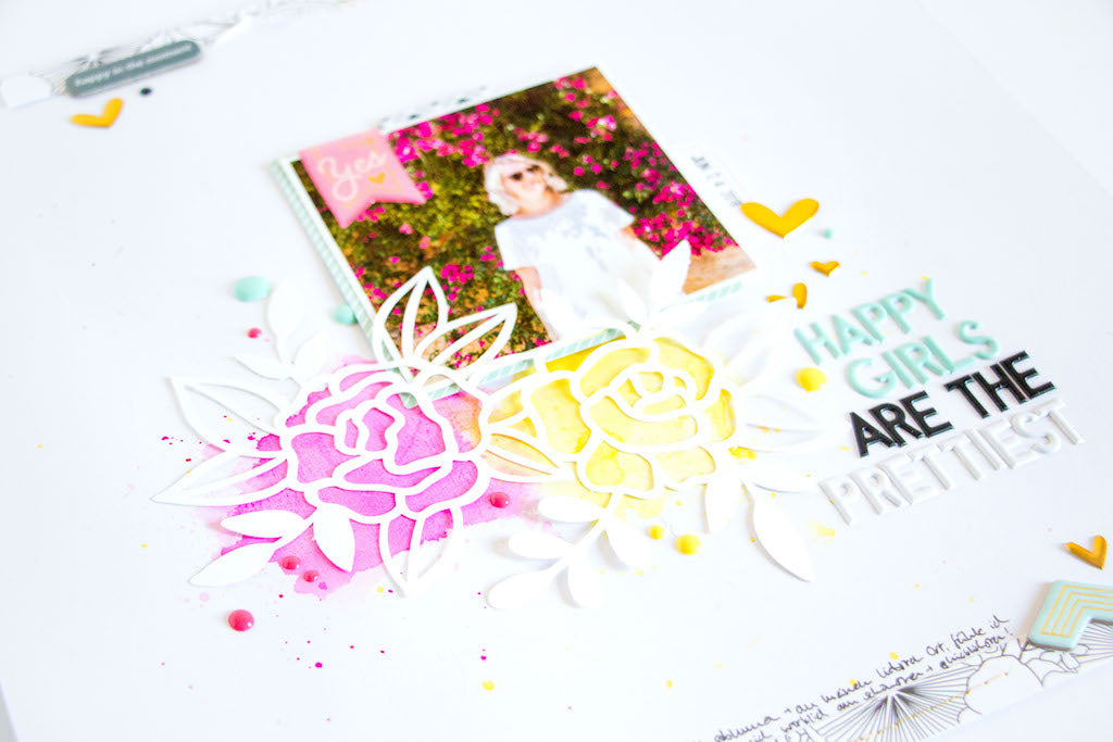 Happy Girls by ScatteredConfetti. // #scrapbooking #pinkfreshstudio