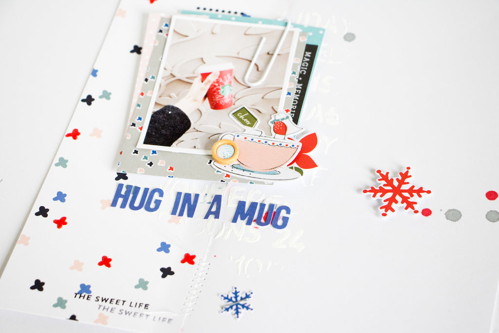 Hug in a Mug by ScatteredConfetti // #scrapbooking #pinkfreshstudio #decemberdays