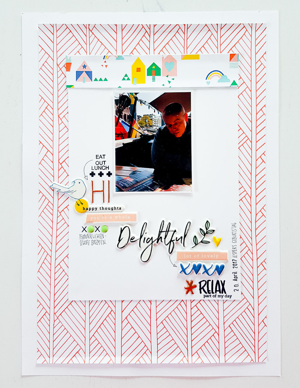 Scrapbooking layouts with Pinkfresh Studio´s papers, embellishments and stamps