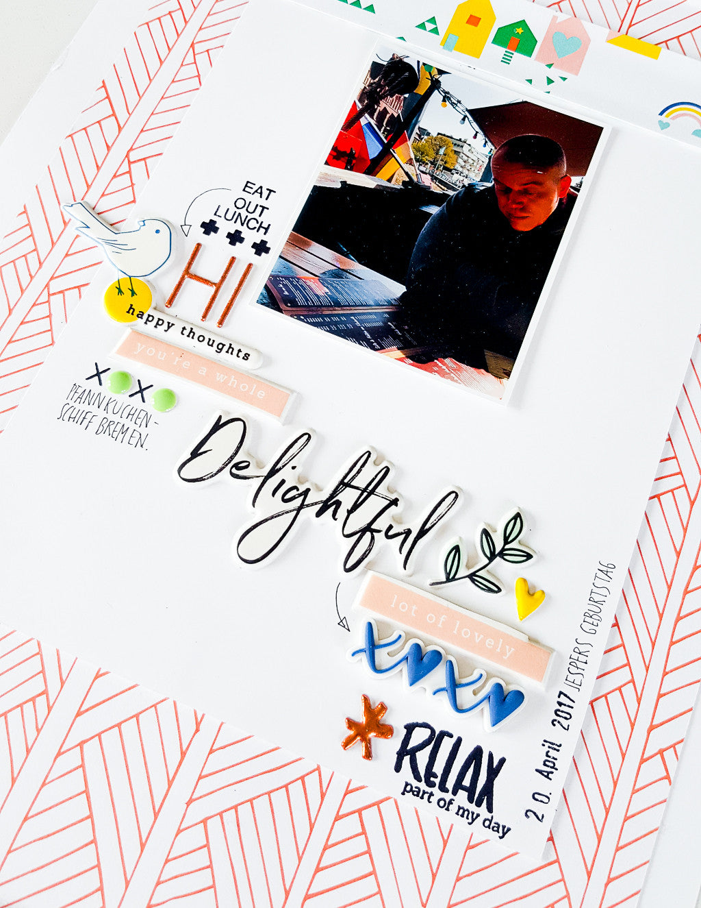 Scrapbooking layouts with Pinkfresh Studio's papers, embellishments and stamps