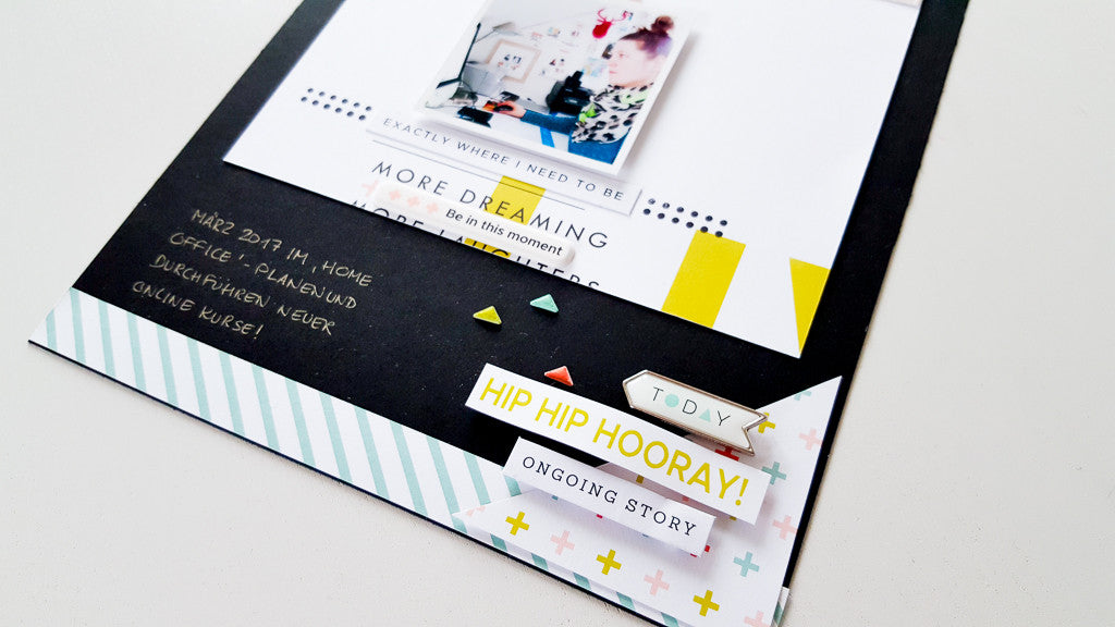 Black versus white cardstock as background - Janna Werner for Pinkfresh Studio