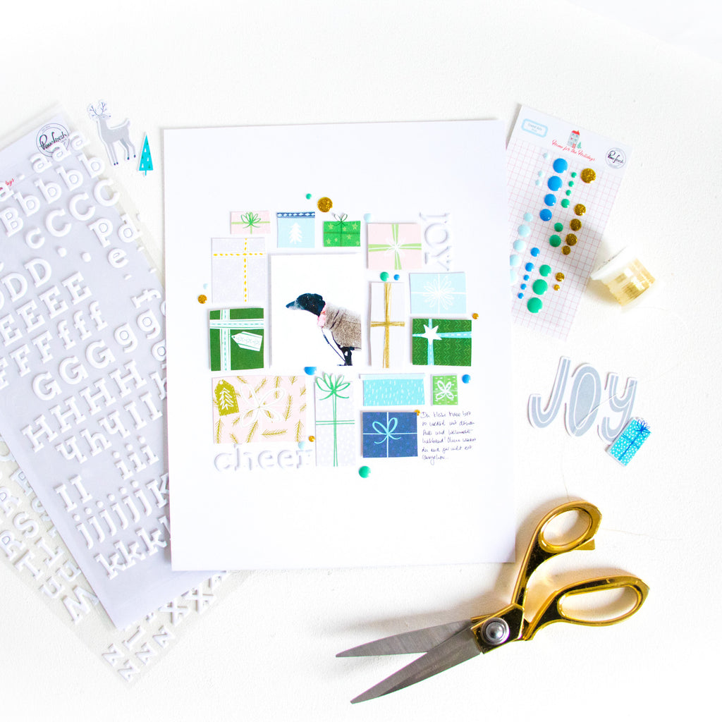 Joy & Cheer by ScatteredConfetti. // #scrapbooking #pinkfreshstudio #homefortheholidays