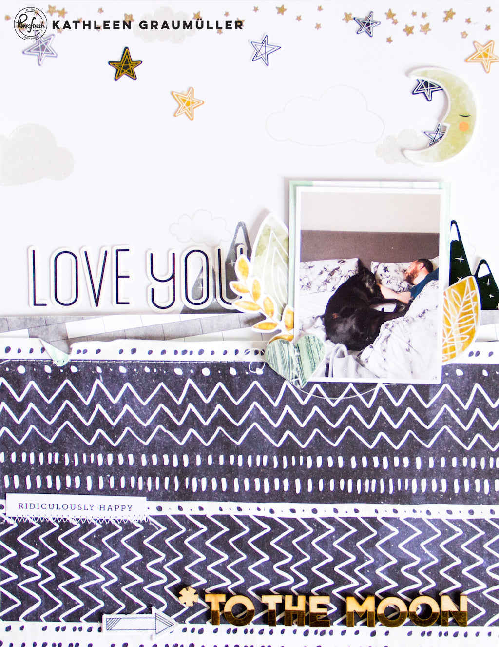 Love You Layout by ScatteredConfetti // #scrapbooking #pinkfreshstudio