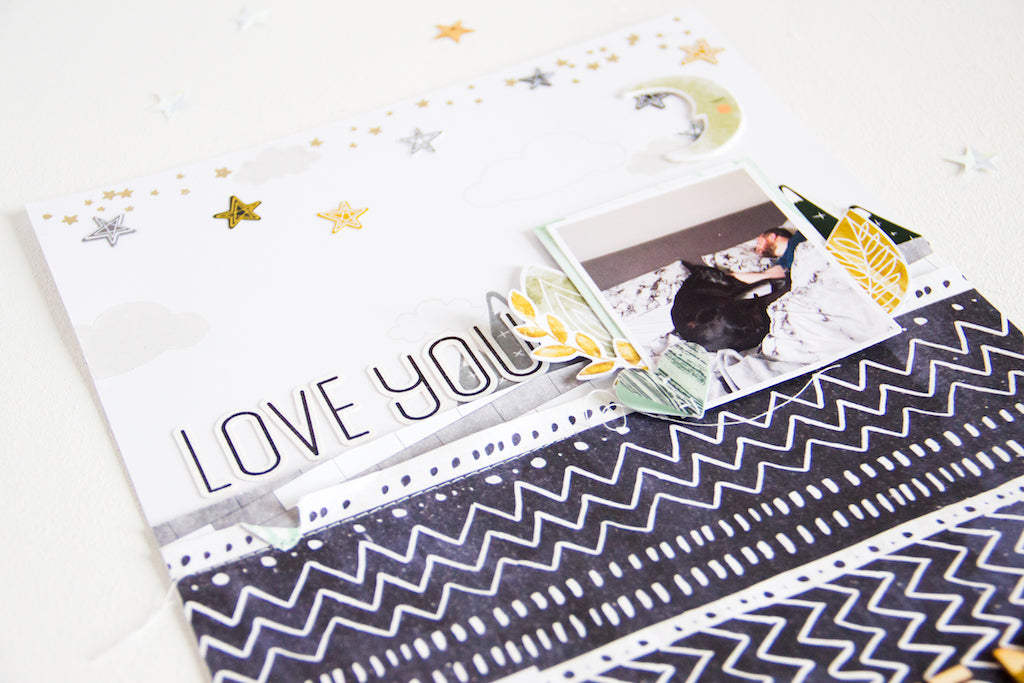 Love You by ScatteredConfetti // #scrapbooking #pinkfreshstudio #escapetheordinary