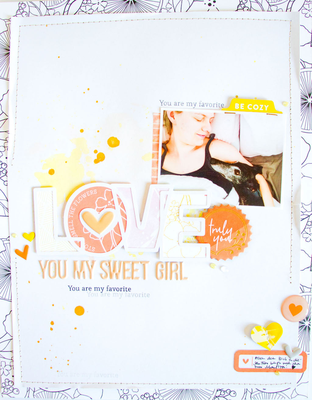 My Sweet Girl by ScatteredConfetti. // #scrapbooking #pinkfreshstudio