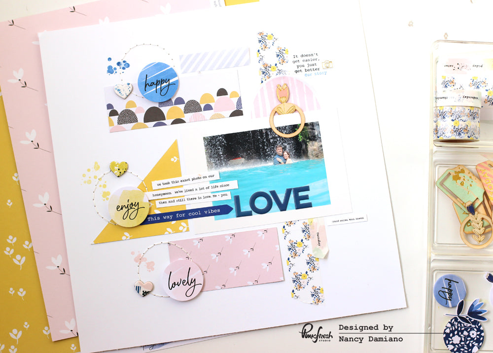 Pinkfresh Layout by @nancydamiano