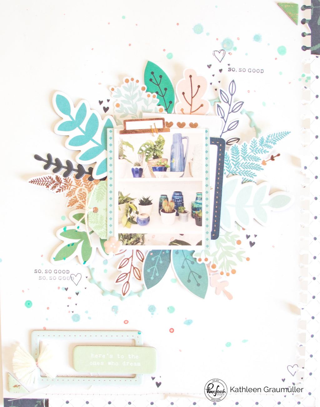 Plantlove Layout by ScatteredConfetti. // #scrapbooking #pinkfreshstudio