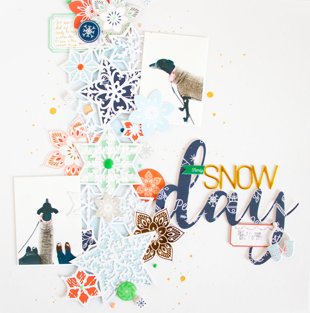 Snow Day by ScatteredConfetti. // #scrapbooking #pinkfreshstudio #holidayvibes