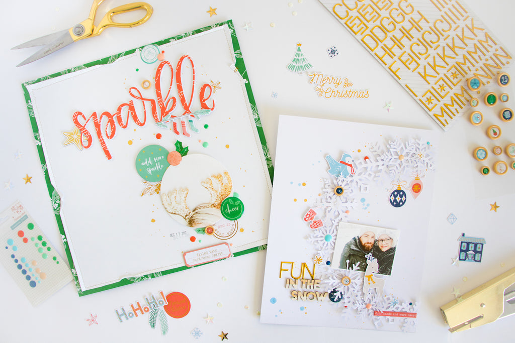 Sparkle & Fun in the Snow by ScatteredConfetti. // #scrapbooking #pinkfreshstudio