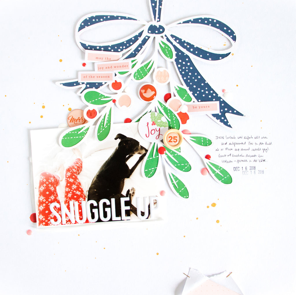 Snuggle Up by ScatteredConfetti. // #pinkfreshstudio #scrapbooking #christmas