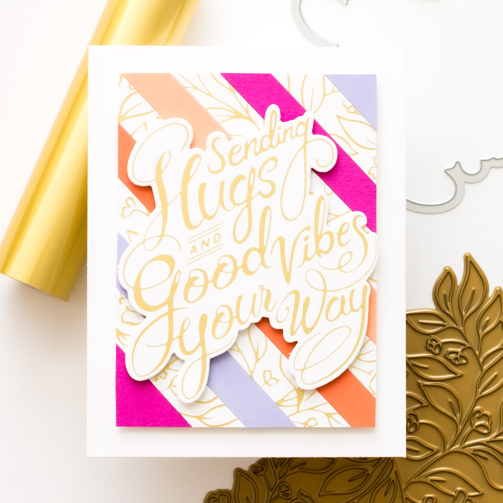 Sweet Blooms and Stripes Card