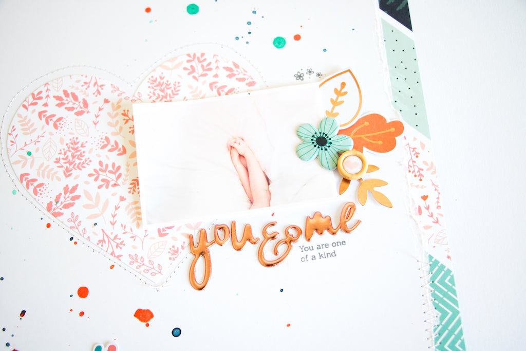 You&Me Layout by ScatteredConfetti. // #scrapbooking #pinkfreshstudio