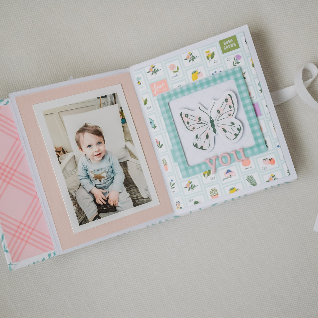 Mini album using Happy Blooms collection by Pink Fresh Studio