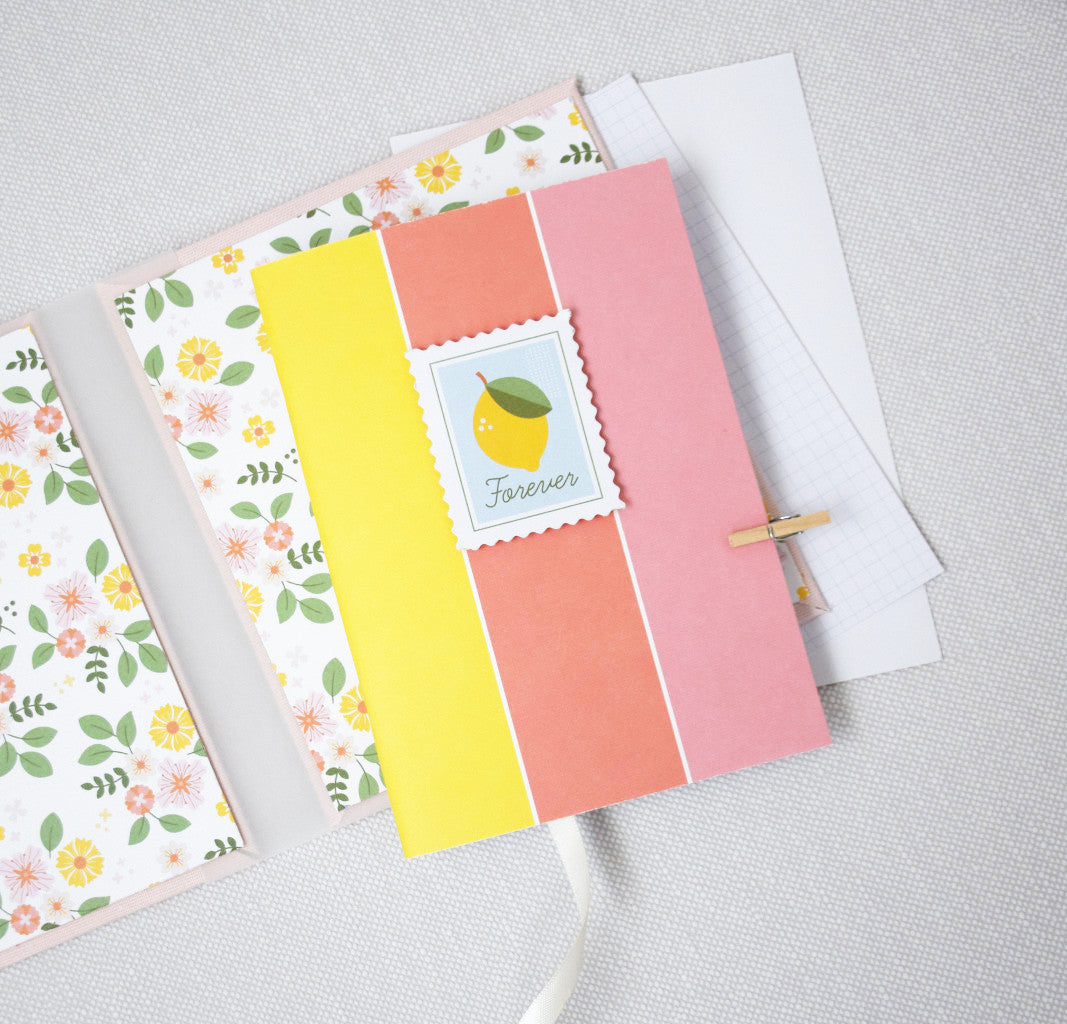 Notebook using Keeping it Real and Some Days collection by Pink Fresh Studio