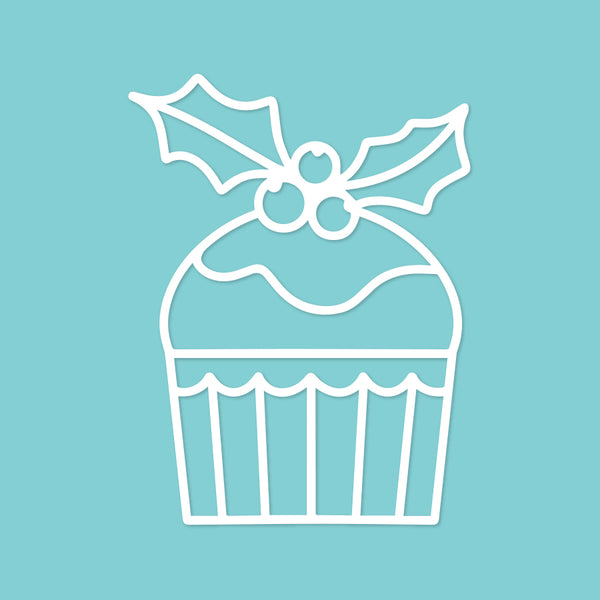 Christmas cupcake cut file